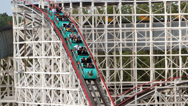 The Dragon Coaster at Playland. There have been some ups and downs in the process to finding a private operator to run the county-owned amusement park.