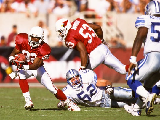 Arizona Cardinals receiver Mac Cody (82) and Mark Maddox