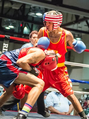 Mamou's Brandon Arvie, shown here at the National Golden Gloves Tournament back in May, will be making his second professional fight Friday in Alexandria.