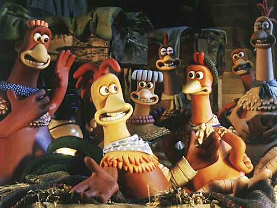 "How can you eat them? The stars of ""Chicken Run"" (2000) live at a farm and face certain death."
