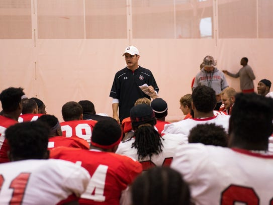 Austin Peay's Governors practice for their upcoming