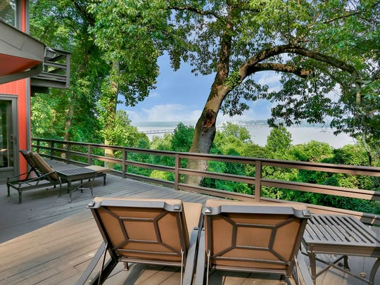The panoramic river views are a unique selling point for this Eastern-inspired dwelling in Upper Grandview.