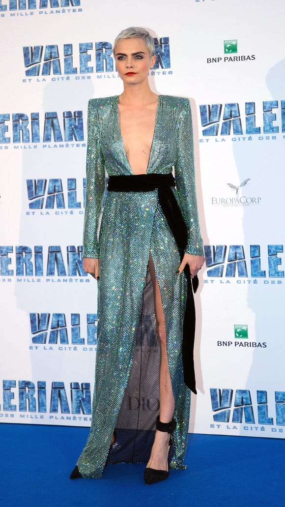 Cara Delevingne rocked an Alexandre Vauthier Couture
