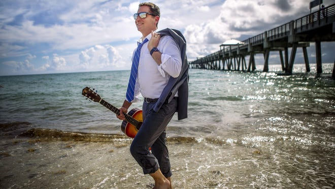 News Channel 5 WPTV meteorologist Glenn Glazer at Juno Beach, August 12, 2020.