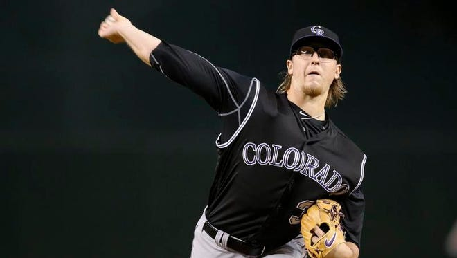 Rockies starter Jeff Hoffman was roughed in Wednesday night's 11-6 loss to Arizona.