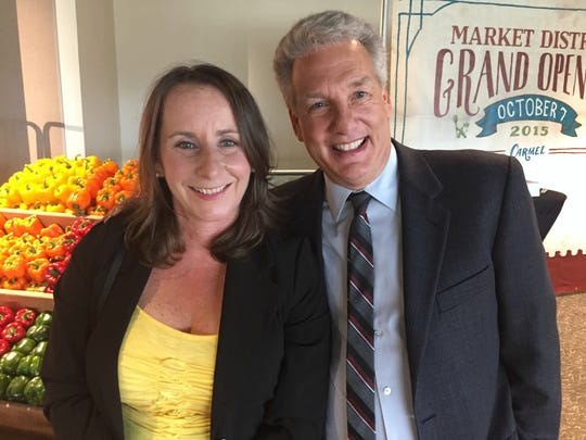 """I cornered Indy native and Food Network's 'Unwrapped"""" host at the Oct. 7 opening of Carmel's Market District grocery story."""