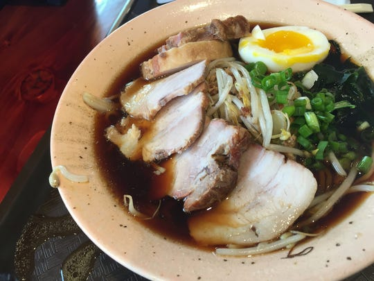 Exrra roasted pork crowns soy sauce-seasoned ramen at Ramen Ray, now open on 71st Street, at Binford Boulevard.