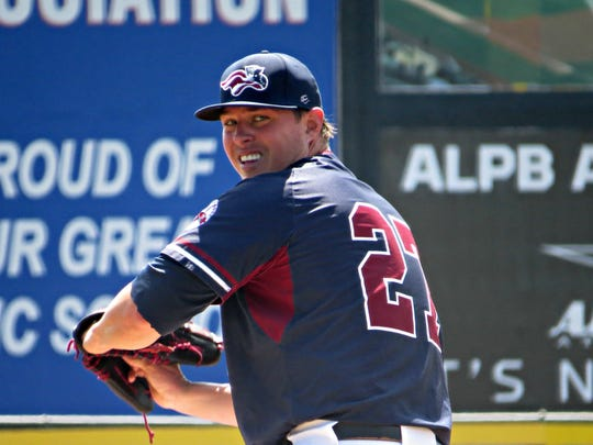 On Wednesday, the Somerset Patriots' Jeremy McBryde made his his first start on the mound since April 2014, when he was with Triple-A Sacramento.