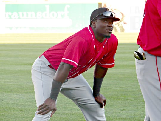 "Lancaster Barnstormer Trayvon Robinson, about his trade from the Somerset Patriots: ""To be honest with you, I've still got question marks about what happened, but it is what it is."""