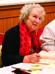 Margaret Atwood at a National Writers Series event in Traverse City in 2016.