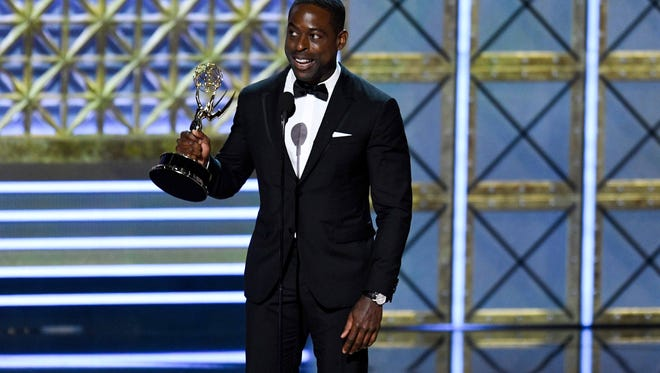 Sterling K. Brown won the Emmy Award for outstanding lead actor in a drama series.