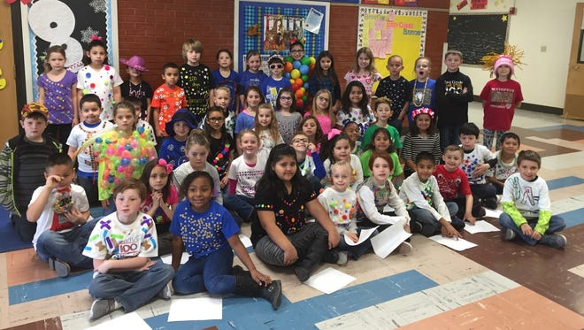 Monterrey Elementary School students celebrated the 100th day of school with a fashion.