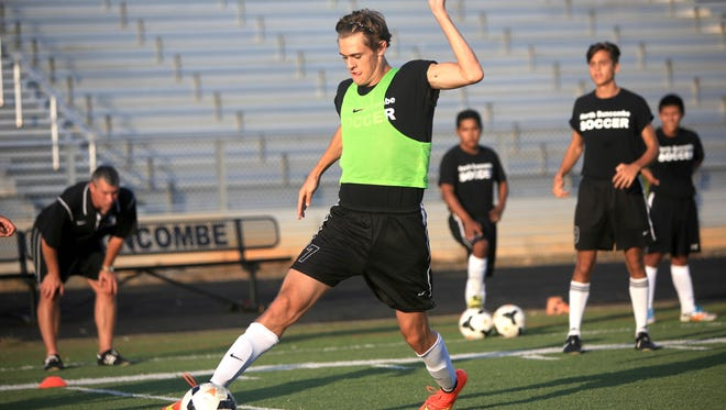 Tristan Eckert had a hat trick (three goals) for North Buncombe in Thursday's nonconference win over Owen.
