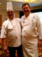 Auction coordinator Chef Herve Glin of The Parker (left) and Chef Bruno Lopez.