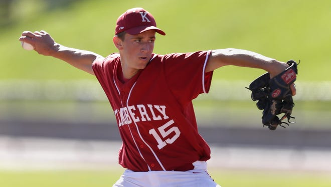 Brice Swick pitched a five-hit shutout in Kimberly's state quarterfinal win Tuesday morning.