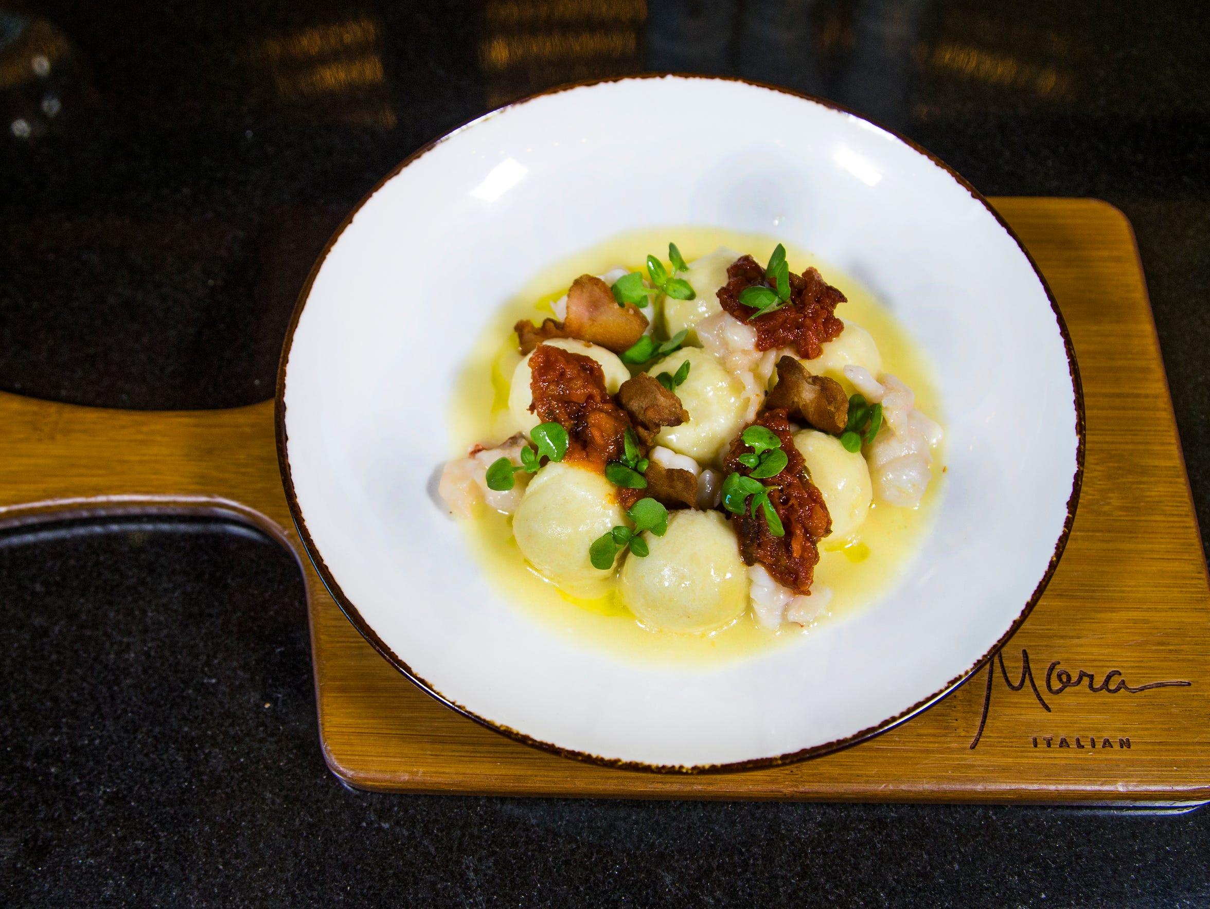 The ricotta and mascarpone gnudi from Mora Italian.