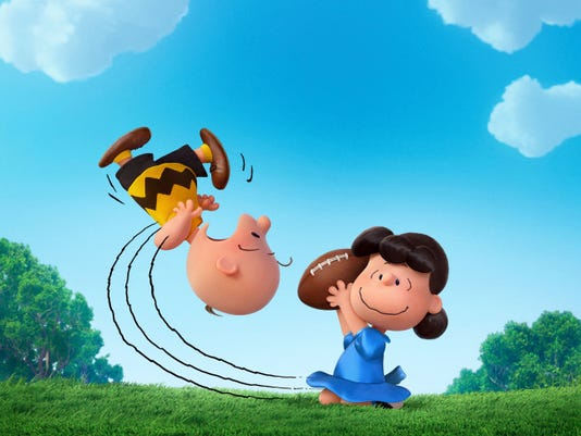 """Charlie Brown and Lucy play in """"The Peanuts Movie."""""""