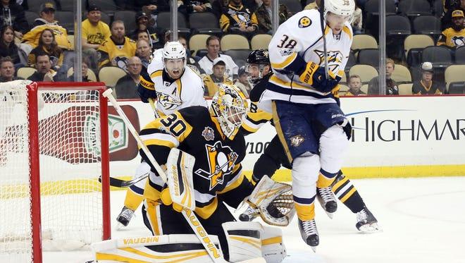 The Predators and Penguins split their two-game season series during the regular season.