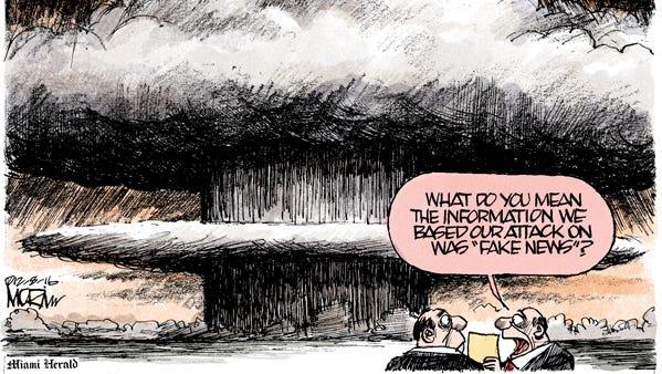 Editorial cartoon by Jim Morin