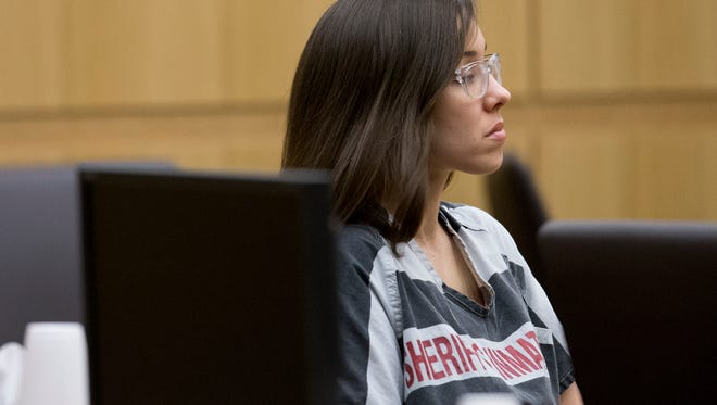 Jodi Arias sits in Maricopa County Superior Court on May 16, 2014.