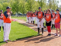 VIDEO: CVU's Storm Rushford throws out the ceremonial first pitch