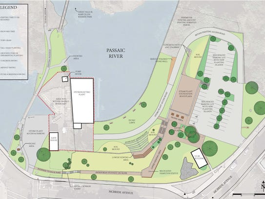 This image shows a site plan for the Great Falls National
