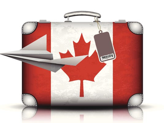 Canadian suitcase
