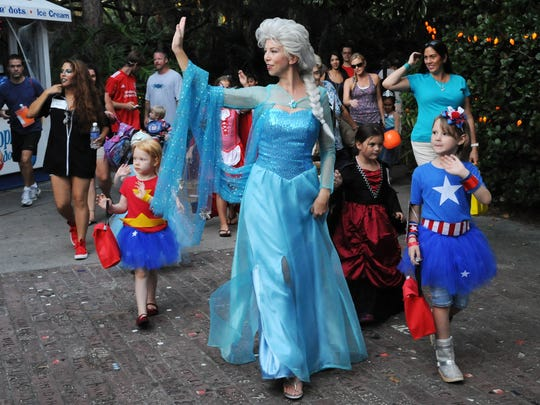 The Ice Queen leads the costume parade at a past Boo at the Zoo at Brevard Zoo.