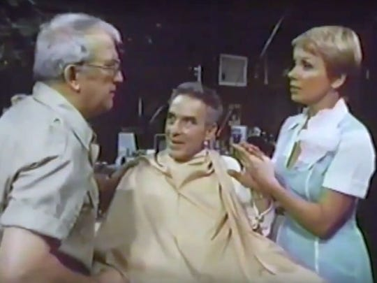 Nicholas Colasanto,  John Cassavetes, and Joyce Bulifant in the 1982 short  The Haircut.