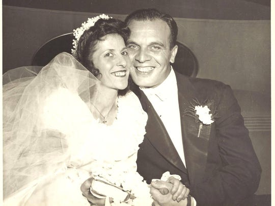 A viral MyCentralJersey.com story about a blue-collar Woodbridge couple, Michael and Olympia DeNittis, shown in their 1946 wedding photo, who died hours apart last year after a lifetime together, has inspired a scholarship fund for vocational and trade students.