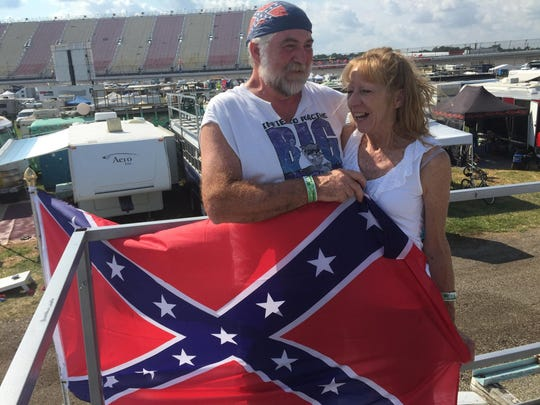 Nathan Riggs, 57, and his wife, Christine, of Columbus,