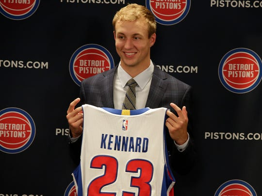 Pistons introduce rookie Luke Kennard on Friday, June 23, 2017 at the Palace in Auburn Hills.