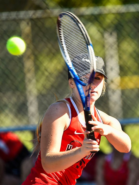 Harding girls tennis Maggie Pitts