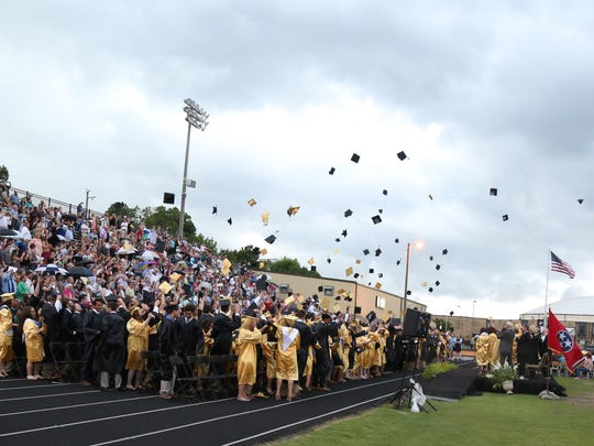 The Hendersonville High School Graduation at Hendersonville High School on Friday, May 18, 2018.