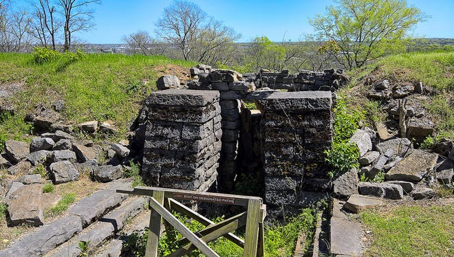 Inside view of Fort Negley.