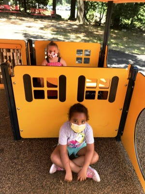 Incoming kindergarten students enjoy daily playground time during McGovern's kindergarten camp.