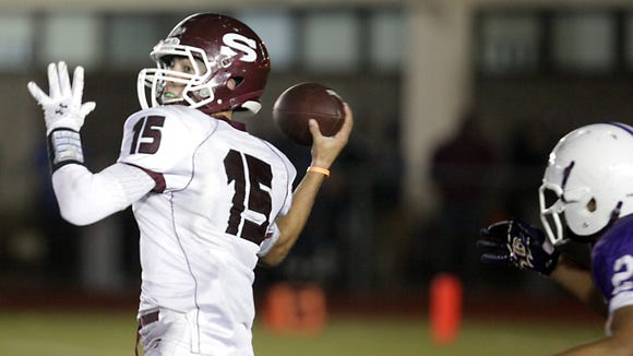 Scarsdale's quarterback Michael Rolfe has been a key