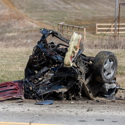 Three people were possibly ejected from a car when