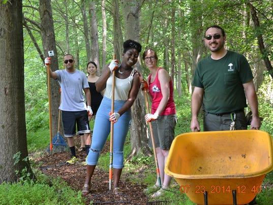 Volunteer recruitment for trail maintenance PHOTO CAPTION