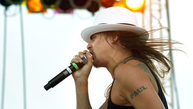 Kid Rock performs during carb day. Carb day at the Indianapolis Motor Speedway kicked off with the last practice before Sunday's race. All drivers practiced for an hour on Friday morning, May 25, 2007.