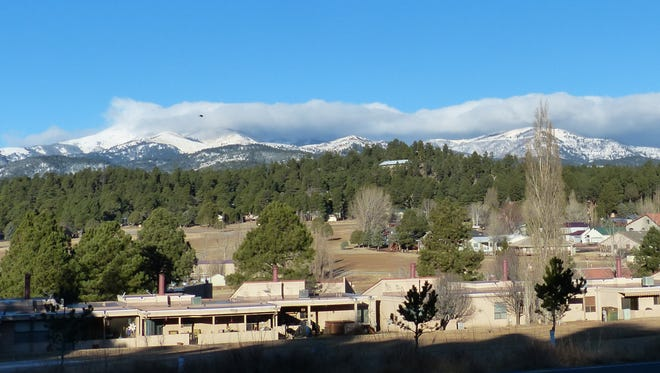 As forecast, a storm moved through Lincoln County Wednesday, leaving snow in successive waves on the Sacramento Mountains and a thin layer in town.