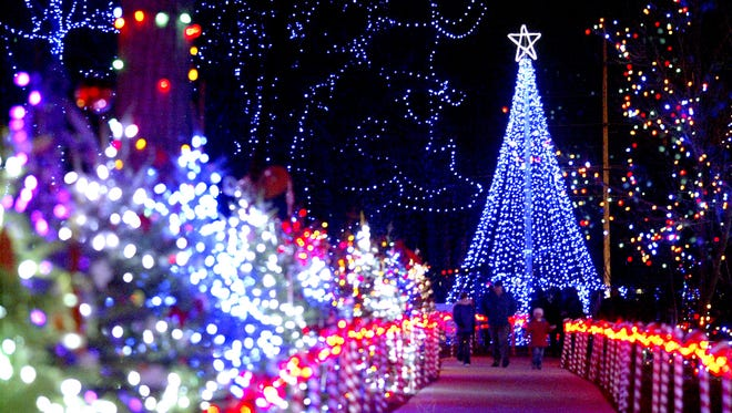 Rotary Winter Wonderland at Wildwood Park features several displays animated to music.