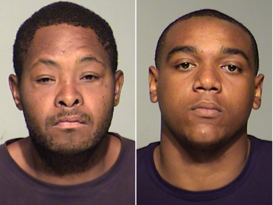 Curtis Smith (left) and Jaquan Rich are charged in