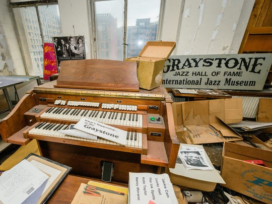 Detroit Sound Conservancy members did salvage work in the Graystone Museum in Detroit's Book Tower. Chairs, signage, even an organ were saved.
