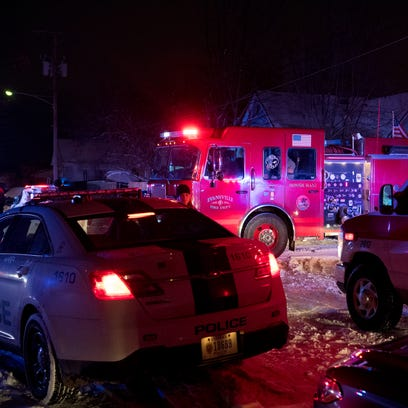Emergency personnel respond to an assault call in the