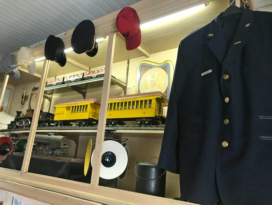 Railroad artifacts in the Linden Depot Museum.