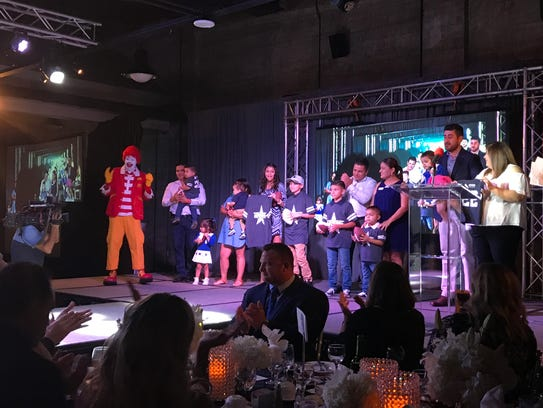 Children living at the Ronald McDonald House were inducted
