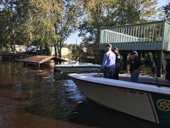 Gov. Rick Scott toured Clay County homes along Black