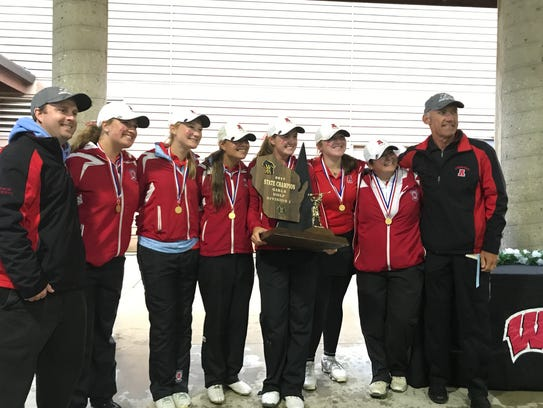 The Arrowhead girls golf team received its championship