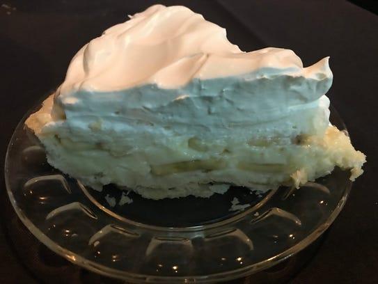 Banana cream pie at Burt's Clubhouse in Neenah.